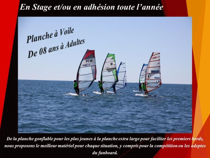 Stage - PLANCHE A VOILE 11/14 ans