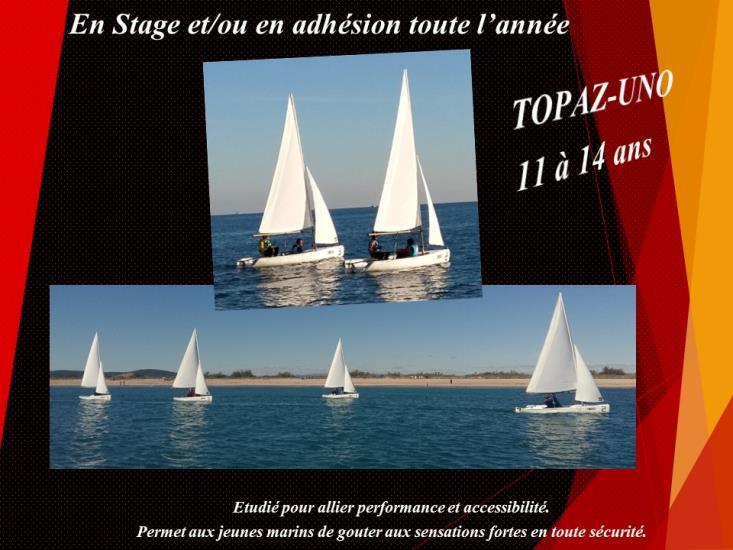 Stage - Dériveur Double TOPAZ-UNO 11/14 ans -
