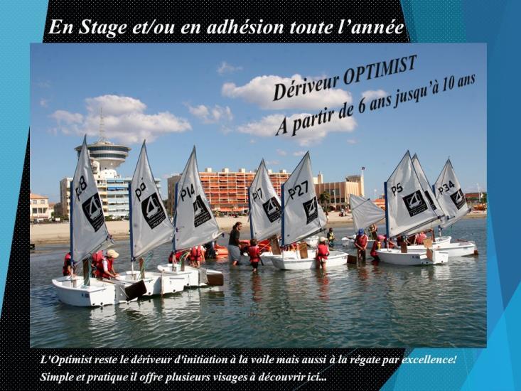 2021-PÂQUES - OPTIMIST - 6/7 ans Stage (5 jours) - Réservation et Paiement uniquement à l'accueil du CNMPL (par chèque ou chèques vacances)