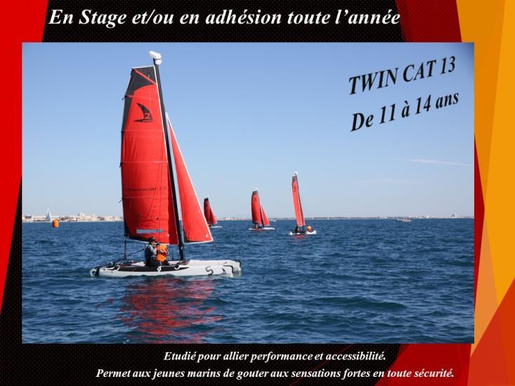 Cata TWIN-CAT 11/14 ans - Tout Niveau - Stage (5 jours) - Réservation et Paiement uniquement à l'accueil du CNMPL (par chèque ou chèques vacances)