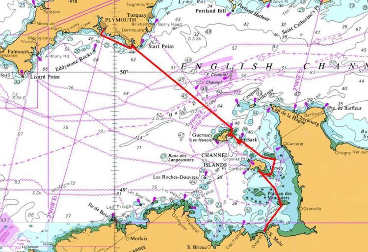 Croisière 11 jours Plymouth à St Malo 354 PI