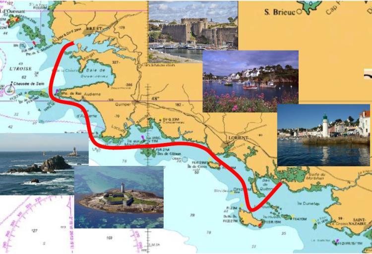 Croisière 7 jours retour de Brest, Bretagne Sud 2020 302 ET