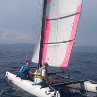 Stage d'été en catamaran 11-15 ans, le matin