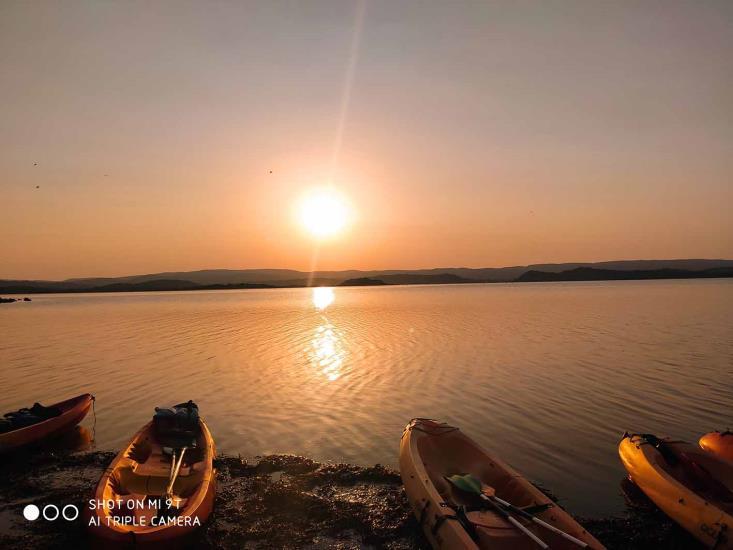 100% nature balade en kayak le soir
