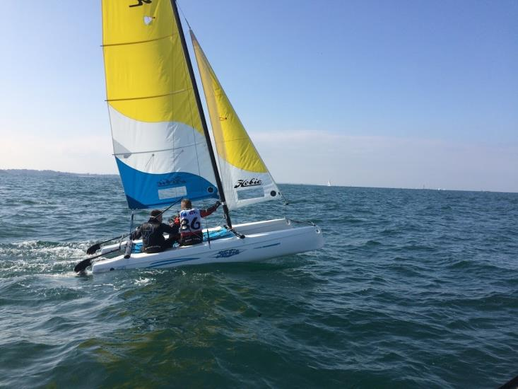 Eté :  Hobie T1 Perfectionnement catamaran