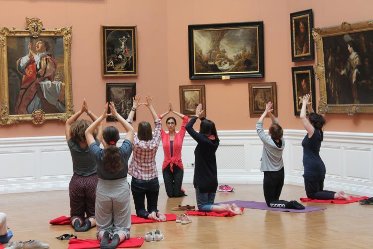Yog'art au musée des Beaux-Arts avec Pauline - Valenciennes