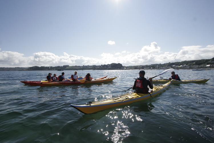 1 séance kayak de mer enfant au port de Locquémeau