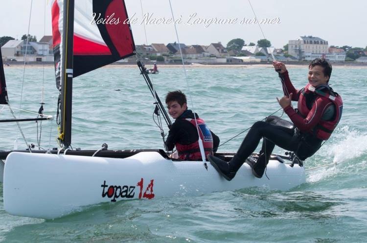 topaz 12 & 14 samedi matin Catamaran par le Club Voiles de Nacre affilié à la Fédération Française de Voile