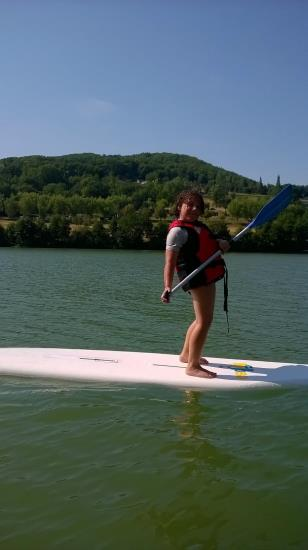 Location d'un stand up paddle pour une demi heure