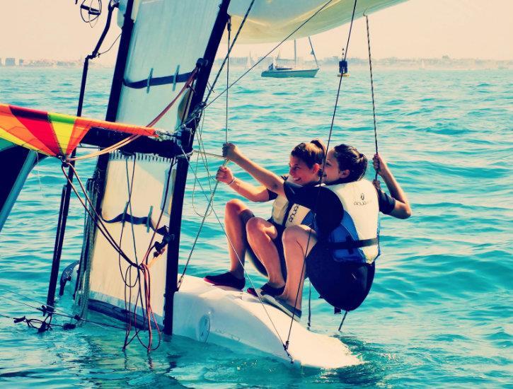Catamaran-débutant Mi-Temps, 16ans+