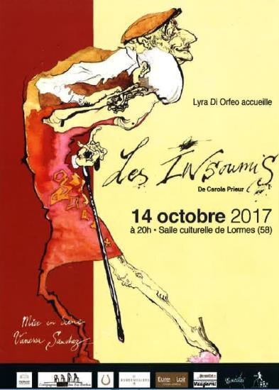 """Spectacle """"Les Insoumis"""" à la salle culturelle de Lormes !"""