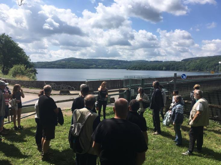 Visite du barrage de Pannecière