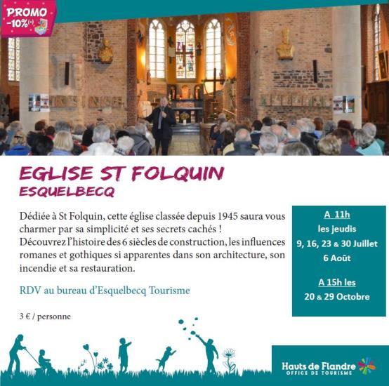 Visite de l'église St Folquin d'Esquelbecq 2020