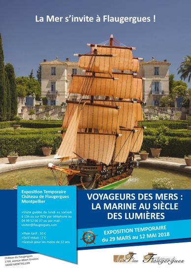 """Visite de l'exposition """"Voyageurs des mers : la marine au siècle des lumières"""""""