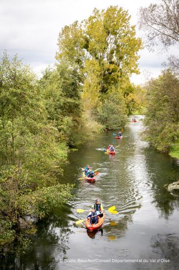 Balade sur l'Epte en kayak