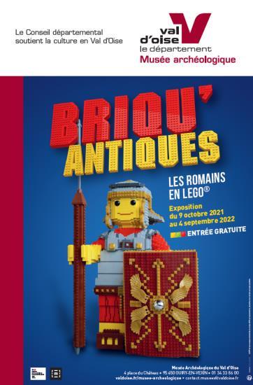 Visites commentées de l'exposition  BRIQU'ANTIQUES, Les Romains en LEGO®, du 9 octobre 2021 au 4 septembre 2022