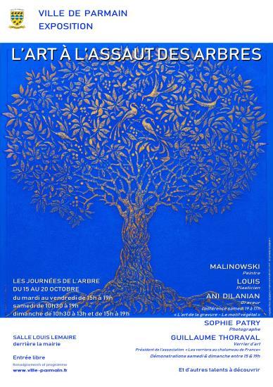 """Exposition """"L'art à l'assaut des arbres"""": 15 au 20 octobre"""